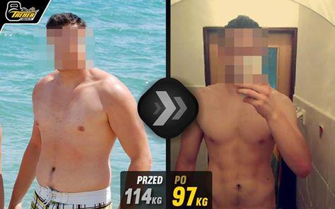 on pokazał jak schudnąc i przypakować, schudł 17kg